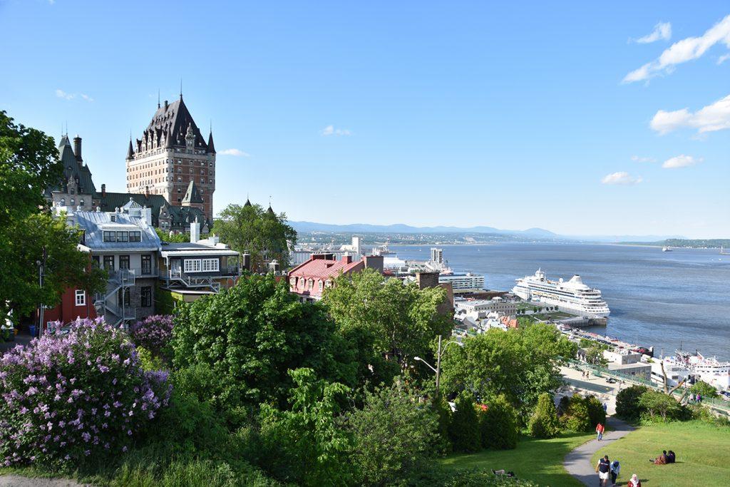 Widok na miasto Quebec.